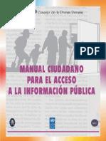 Encarte Manual Ciudadano para el Acceso a la Información Pública