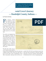 A Postal Cover's Journey — Randolph County, Indiana