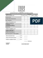 hhfo junior division apprentice paper evaluation form
