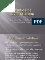 DISEÑOS DE INVESTIGACIÓN2003