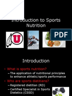 condensed introduction to sports nutrition presentation