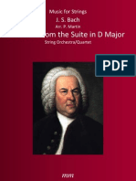 Gavotte From the Suite in d