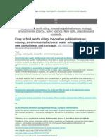 2013.March.blog Posts.tags Ecology, Water Quality, Ecosystem, Environmental, Aquatic, Ecotoxicology. http://ru.scribd.com/doc/137815737/