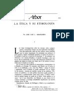 La Ética y su etimoogía