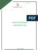 Budget économique prévisionnel 2010 (version française)