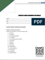 Encuesta sobre consumos culturales realizadas en la asignatura E.C.A por los profesores Hugo Martinengo y Lucrecia Oliver