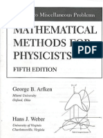 Mathematical Methods for Physicists Arfken 5e Solutions