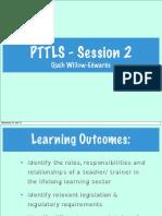 presentation 2  ptlls  qrx2572