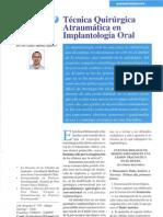2003 Tecnica Quirurgica Atraumática en Implantologia Oral