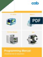 Programming Manual CAB Printer