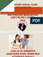 Presntacion Diapositivas Educacion Sexual Adolescentes