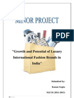 Growth and Potential of luxury international fashion brands in India.