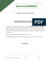 Certificado de Trabajo Membretado