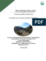 Delimitacion y Codificacion de Cuencas