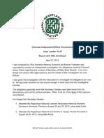 Ethics Investigation of Scott Gessler