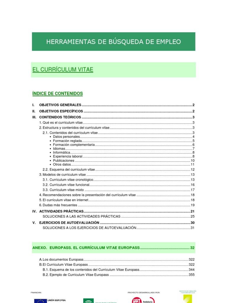 3_3_1_El Currículum Vitae