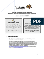 UML Information Literacy Newsletter Nov 2108