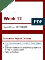 Edtech 505 - Week 12