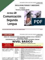 IV CICLO COMUNICACIÓN SEGUNDA LENGUA-AGP-UGEL ANTA