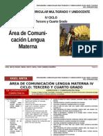 IV CICLO COMUNICACIÓN-AGP-UGEL ANTA