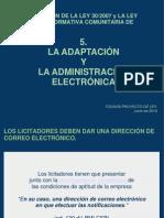 5-laadaptaciondelaleydecontratosdelsectorpublicoylaadministracionelectronica-100614053041-phpapp01