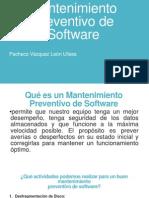 Mantenimiento Preventivo de Software