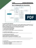 FICHA 1 - ESTRUTURA E FORMAÇÃO DAS PALAVRAS - ALUNO