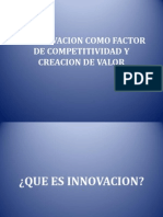 La Innovacion Como Factor de Competitividad y Creacion