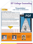 NIST College Counseling Newsletter for Year 13 Students April 25, 2013