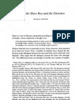 Hugh H. Benson, Meno, The Slave Boy and the Elenchos