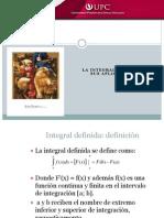 Integral Definida y cálculo de }areas