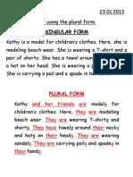 4C Singular Plural Form