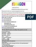 2012 Flydragon Price List2