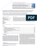 Assessment of World Lithium Resources and Consequences of Their Geographic,2012