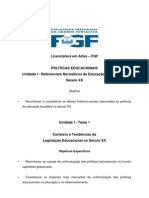 Políticas Educacionais - Apostila FGF