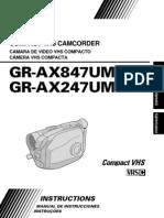 Manual Filmadora Gr-Ax2 Em Portugues