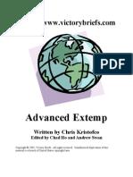 Advanced Extemporaneous
