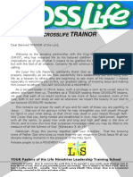 Crosslife Letter to the Trainor 2013