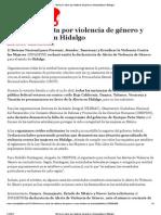 RPG Rechazan alerta por violencia de género y feminicidios en Hidalgo - Animal Político 04-21-13