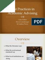 best practices in academic advising