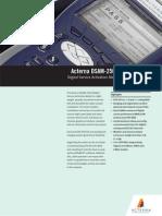 Acterna DSAM 2500 Series Datasheet