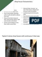 Melaka Shophouse Characteristics