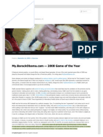 My.BarackObama.com — 2008 Game of the Year