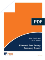 KING COUNTY/RENTON FAIRWOOD SURVEY FINAL