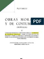 Tomo v - Obras Morales y de Costumbres - Plutarco - Compendio de Historias Paralelas