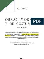 Tomo v - Obras Morales y de Costumbres - Plutarco - Sobre La Fortuna de Los Romanos