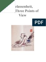 Gelassenheit From 3 Points of View (Dogen)