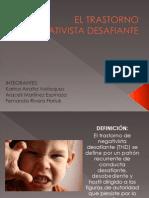 EL TRASTORNO NEGATIVISTA DESAFIANTE.ppt