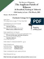 Pew Sheet 17 March 2013 L5