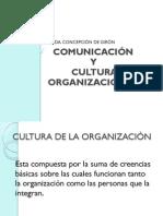 COMUNICACIÓN Y CULTURA DE LA ORGANIZACION